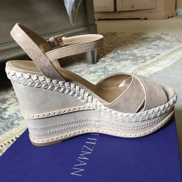 871c242de8b Stuart Weitzman Sundry Wedge Sandals 8 NWT